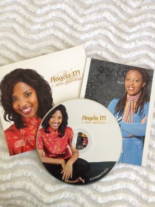 Angela M's awesome new CD project featuring her own songs of worship and praise recorded by J Power Studio!